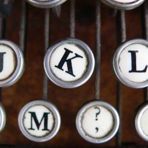 Wonky letters on typewriter