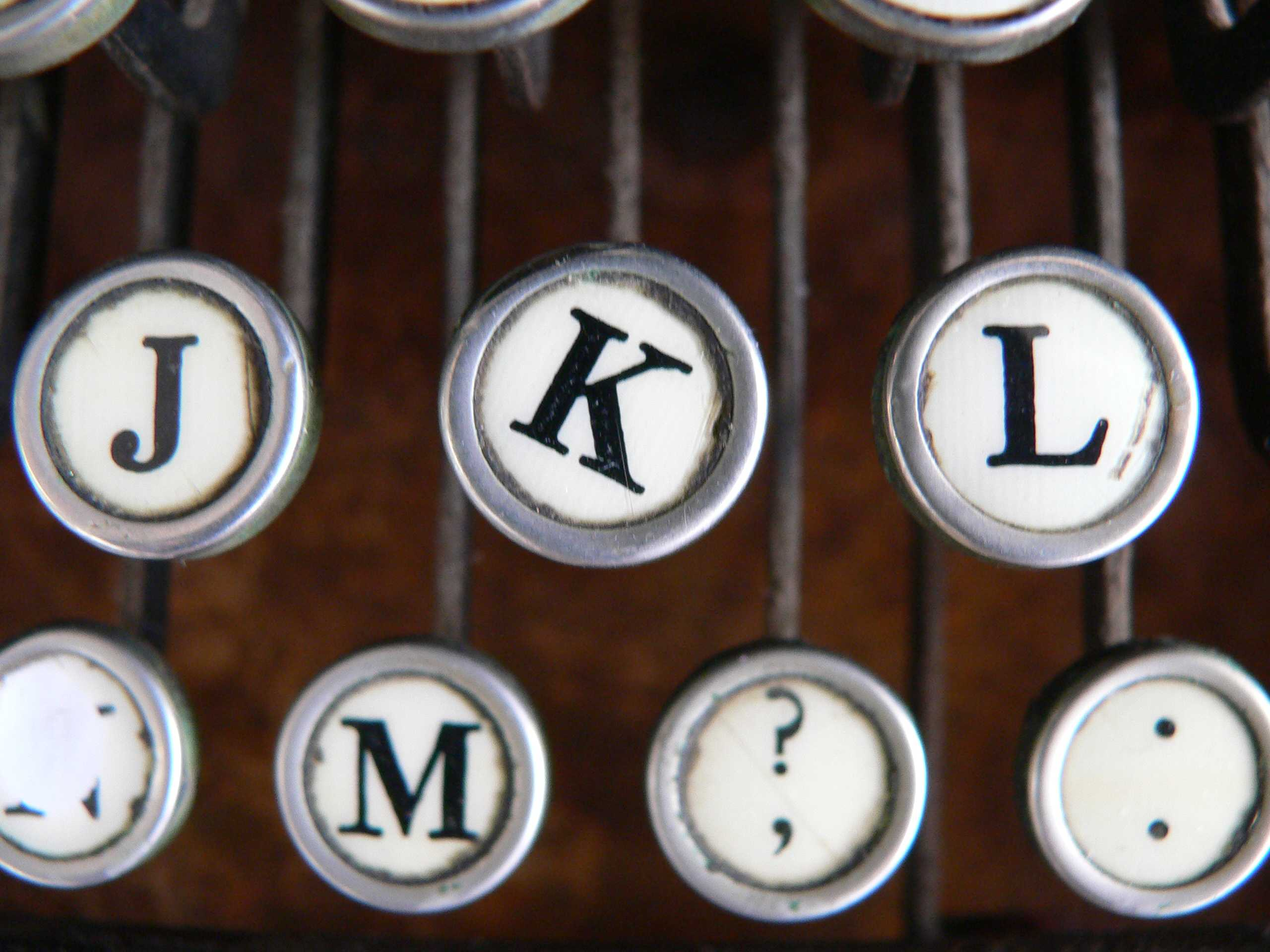 Wonky letters on typewriter